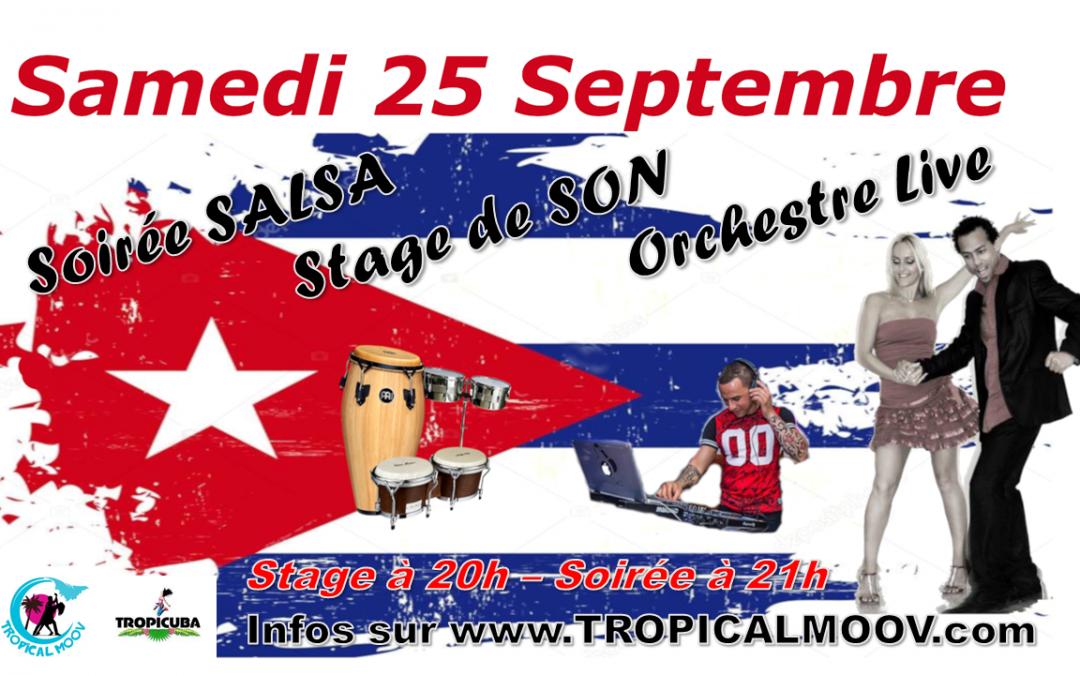25 Septembre 2021-Soirée Salsa Concert et Stage de SON